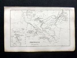 Cornwell & Dower 1849 Antique Map. Prussia